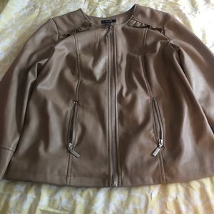 Faux leather jacket. BUY ONE GET ONE FREE.